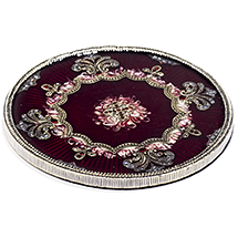 Red Jeweled Wine Bottle Coaster