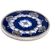 Blue Jeweled Wine Bottle Coaster