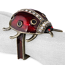 Lady Bug Napkin Ring