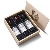 Trio of Wine in Wood box