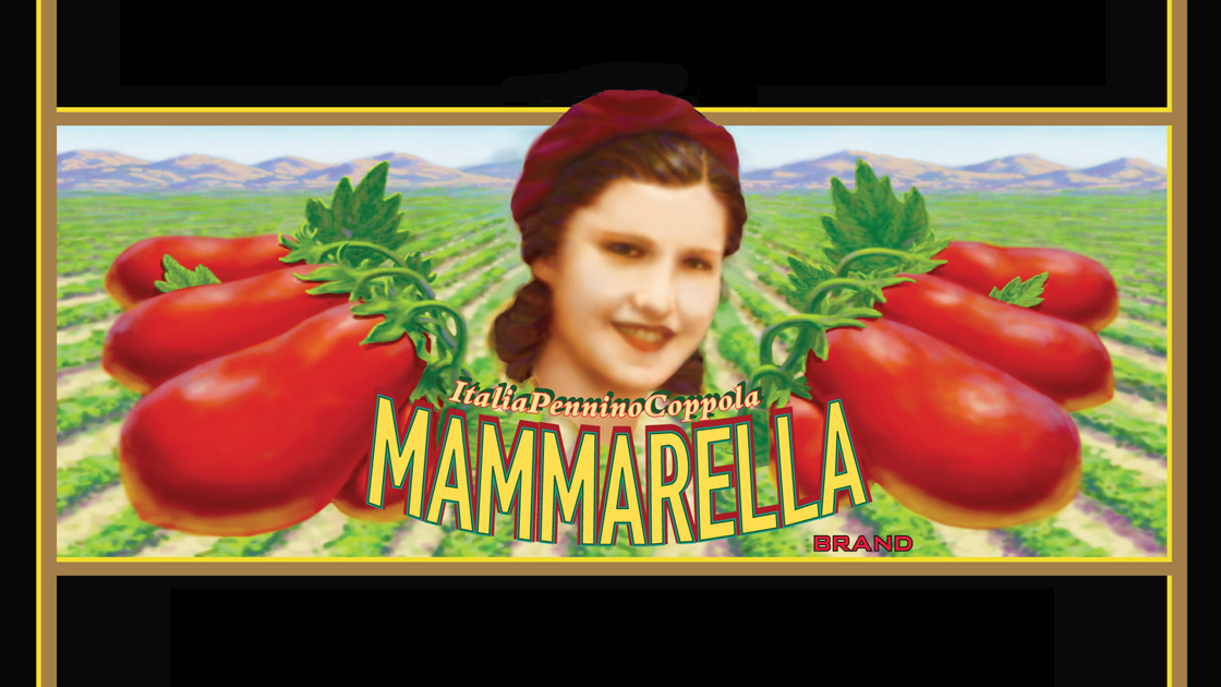Mammarella pasta sauce label.