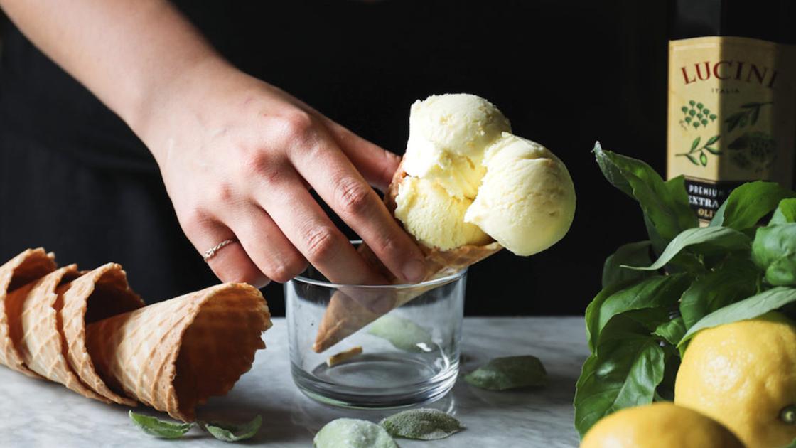 Lemon gelato.