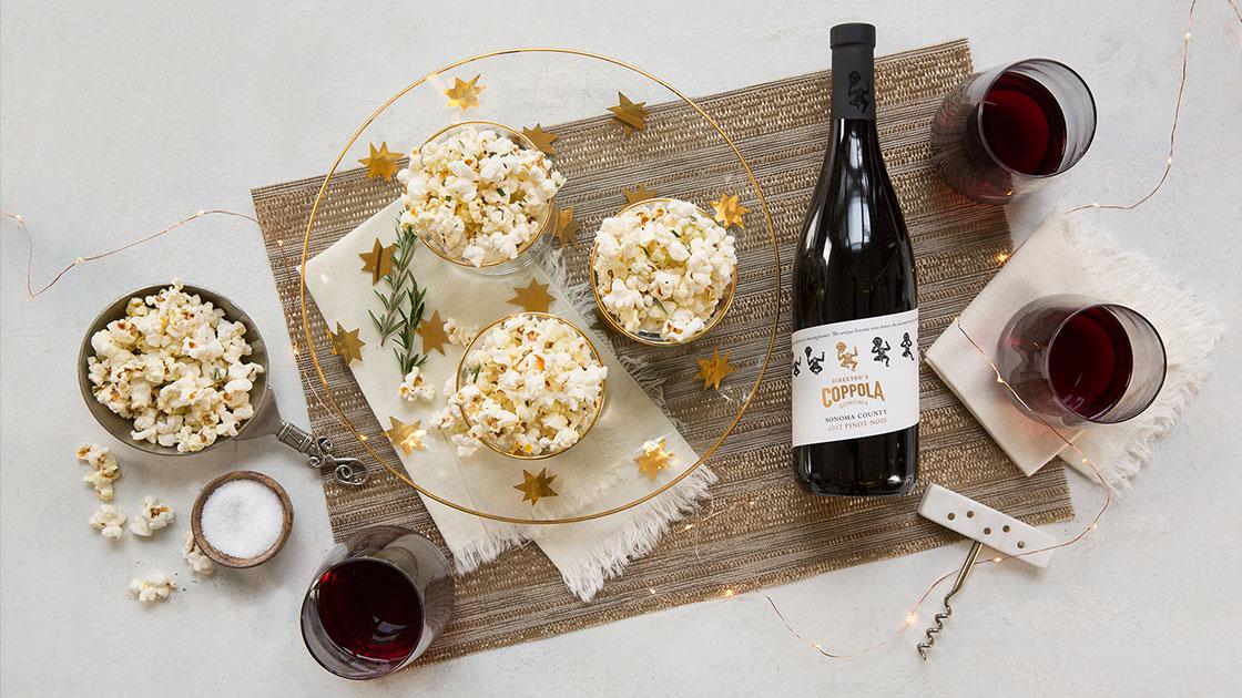 White Truffle-Rosemary Popcorn.