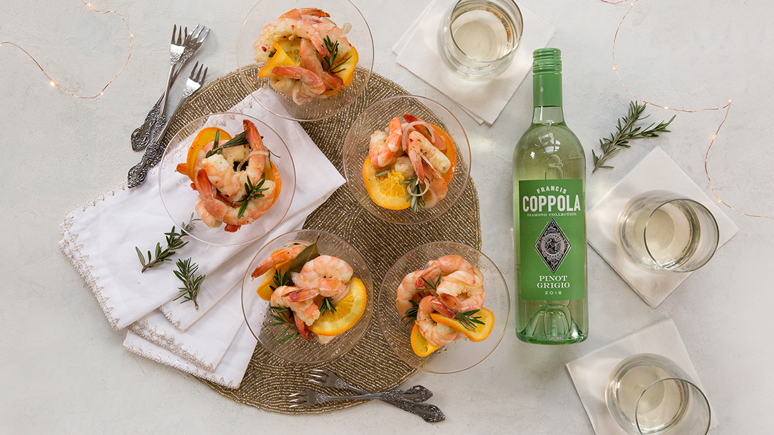 Champagne Pickled Shrimp.