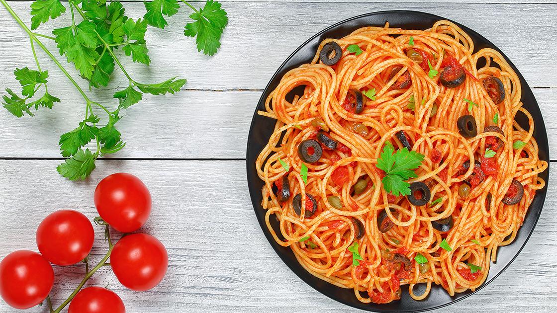 Bowl of spaghetti.