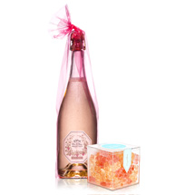 Sofia Blanc de Blancs with box of champagne gummy bears