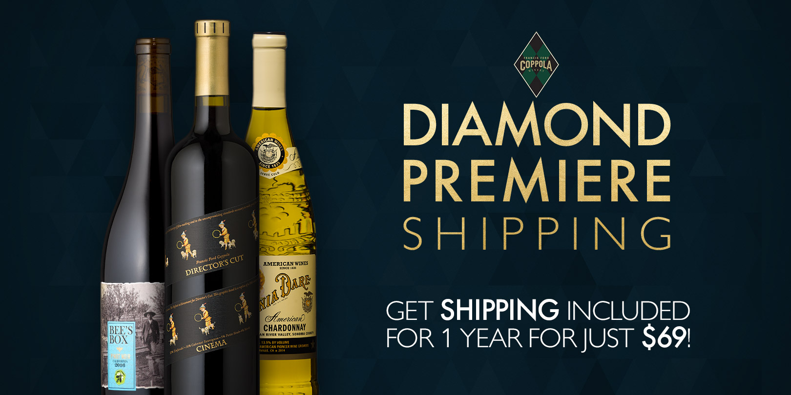 Diamond Premiere shipping advertisement. - Featured Item