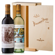 Lost Colony wines with pine gift box