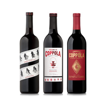 three zinfandel bottles