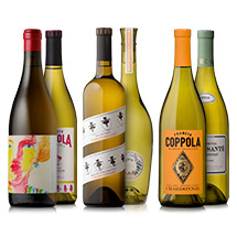 six assorted bottles of chardonnay