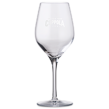 Wine glass with Francis Coppola Winery logo