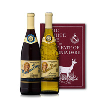 Two Virginia Dare wines with The White Doe book