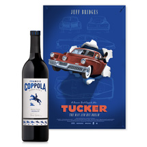 Tucker movie poster and Director's Merlot wine bundle.