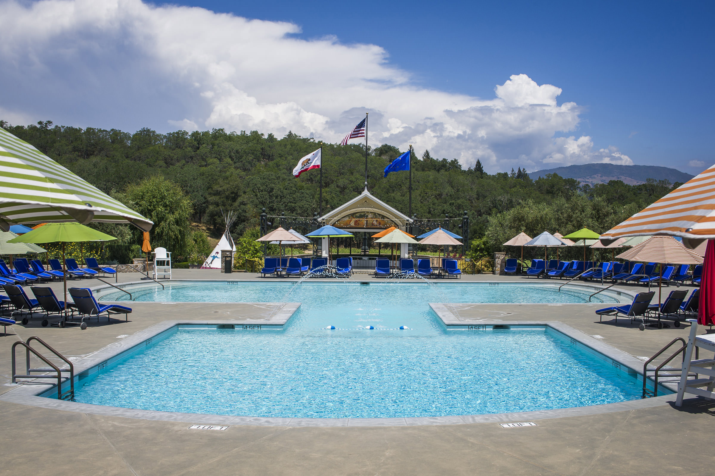 francis ford coppola winery | pools and cabines