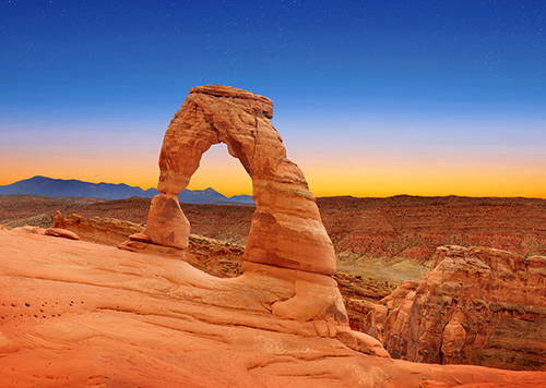 Red stone arch.