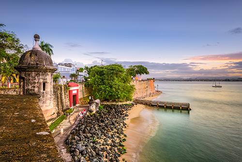 San Juan, Pureto Rico shoreline.