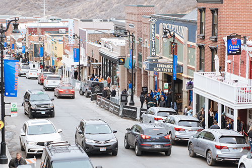 Main street in Park City, Utah.