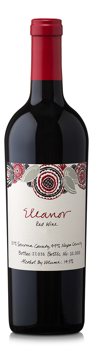 A bottle of Eleanor red wine.