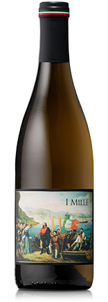 Bottle of I Mille Vernaccia white wine.