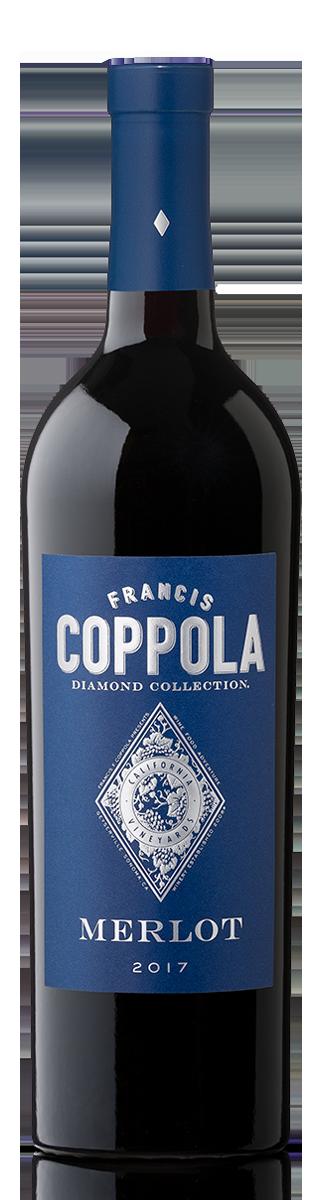 Bottle of Diamond Collection Merlot 2017.