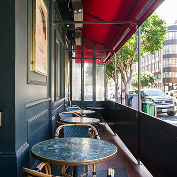 Cafe Zoetrope outdoor seating