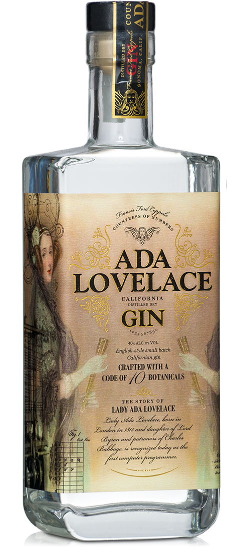 Ada Lovelace Gin Bottle shot