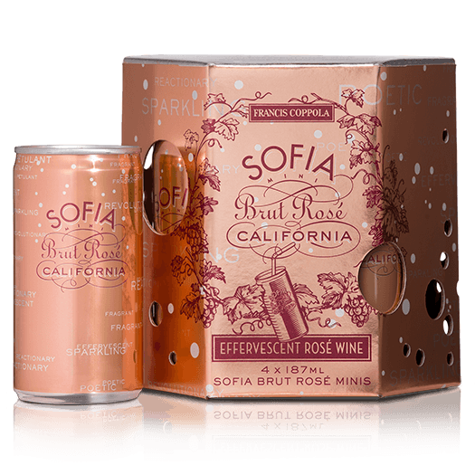 Sofia Mini Brut Rosé Coppola 4 Pack