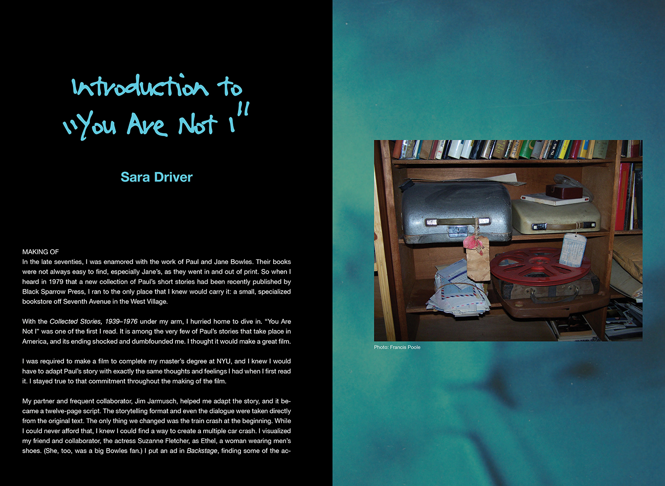 Story artwork by guest designer Jim Jarmusch