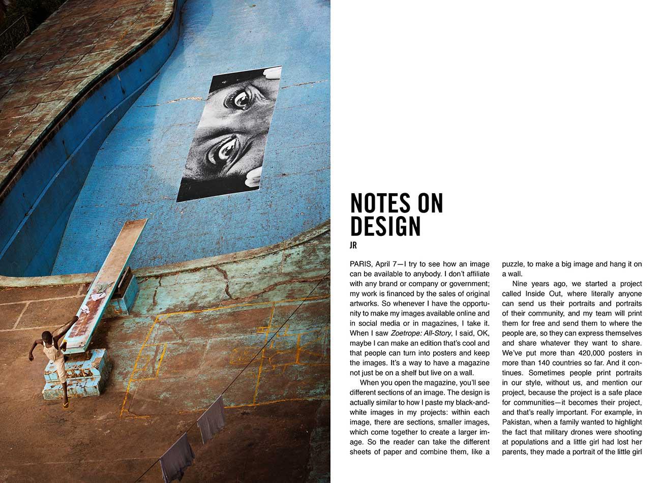 Story artwork by guest designer JR