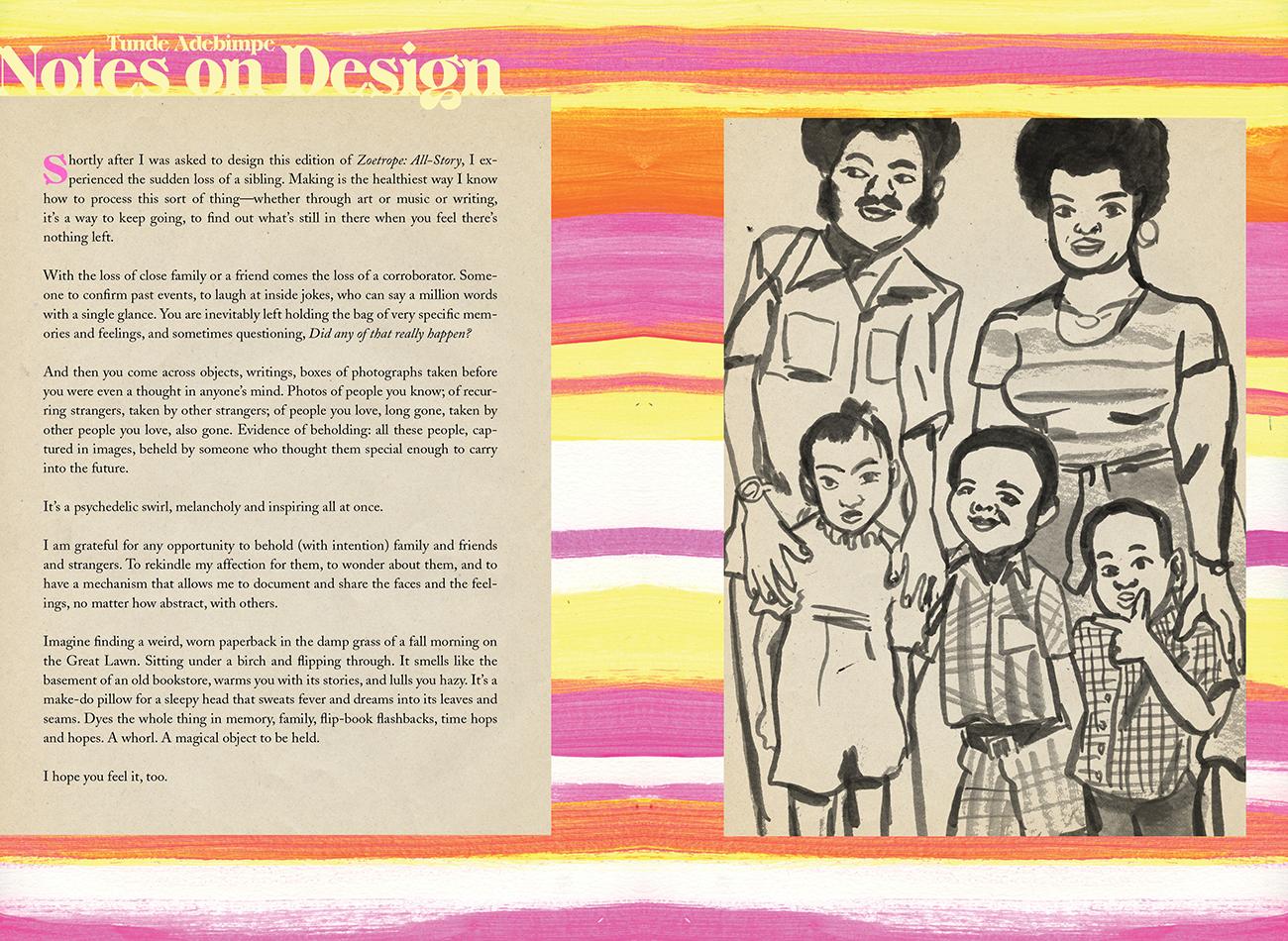 Story artwork by guest designer Jeffrey  Gibson